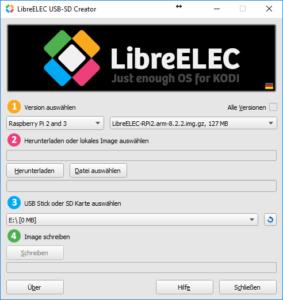 LibreELEC SD Creator
