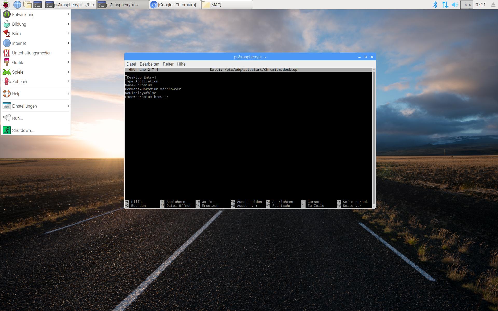 Autostart unter Raspbian – Christian`s Blog
