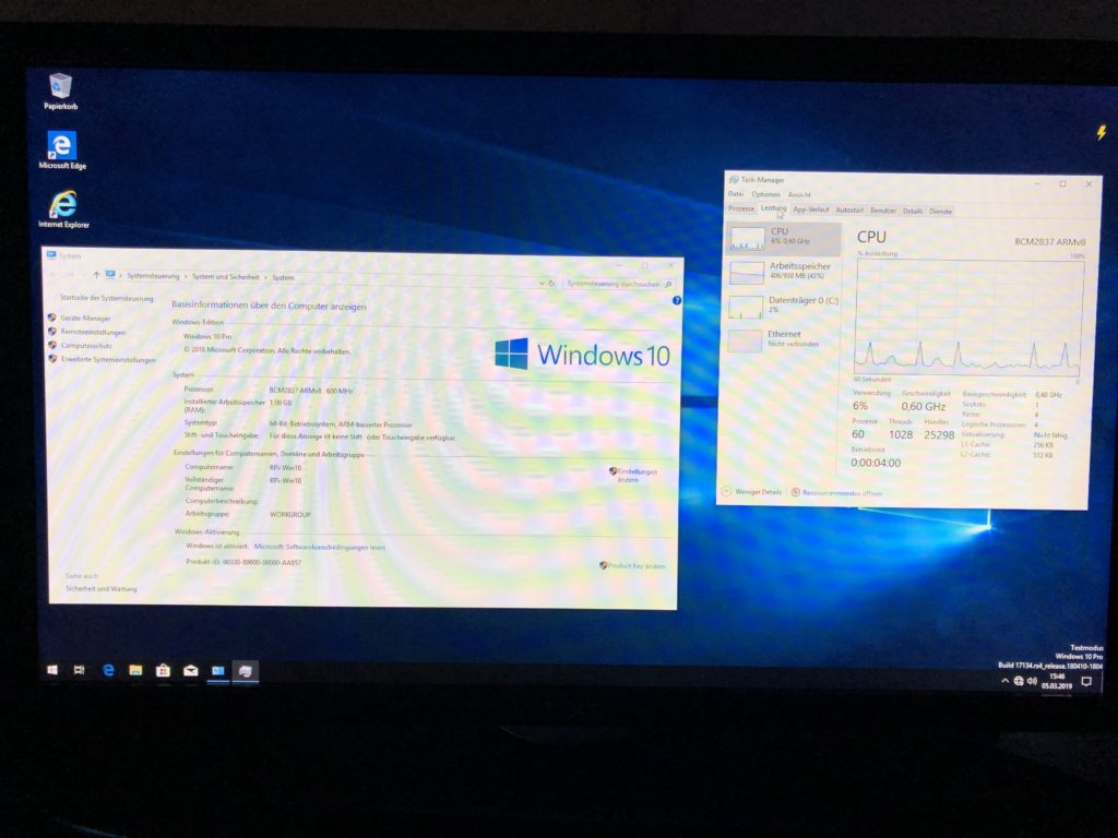 Windows 10 auf Raspberry Pi 3B+